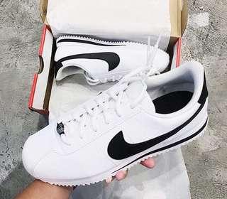 Nike Cortez Classic White/Black Swoosh
