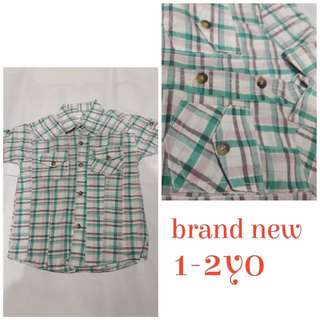 Boys checkered polo