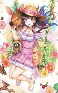 🚚 iPASS魔法少女小帕一卡通SEASONS~Wonderland~ 夢時代限定 含海報