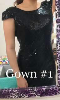 Sequin Black Gown 1