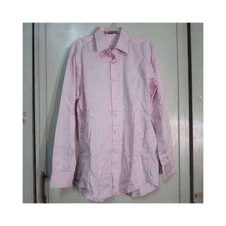 Tyler Pink Silk Touch Long Sleeve Polo
