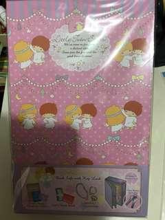 全新Sanrio Little Twin Stars有鎖🔒書型夾萬