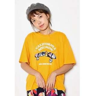 日貨 日牌  RCWB  滑板圖案  短袖T恤  黃/藍/黑/白/灰