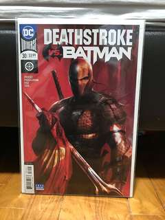 Deathstroke #30 variant cover by Mattina