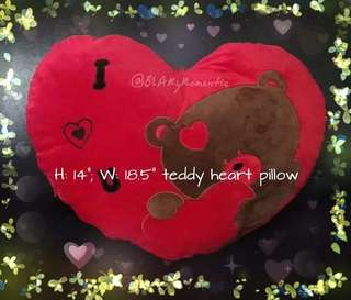 11 pcs left. Heart shape pillow for all occasions
