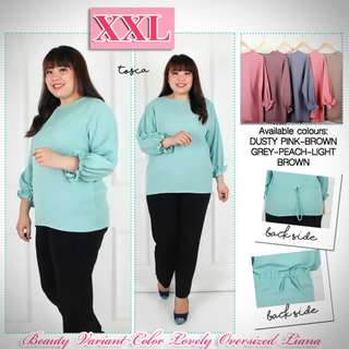 Atasan XXL Beauty Variant Color Lovely Oversized Liana.