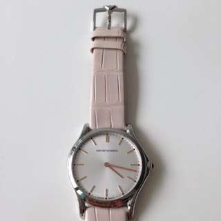 Emporio Armani Watch (Pink Rose Gold Leather)