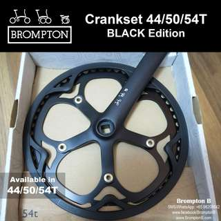 BROMPTON Crankset (Black Edition) 44/50/54T