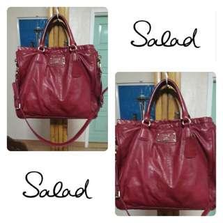 Salad Brand Satchel Leather Bag