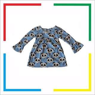 Dress Anak/Dress Bayi Panda/ Dress Lucu