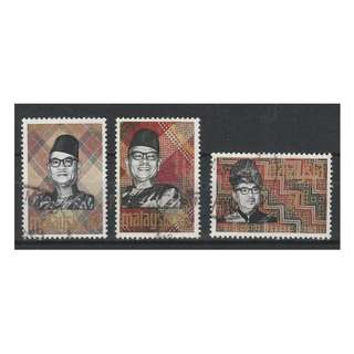 Malaya Federation 1969 Solidarity Week set of 3V used SG #56-58 (A2)