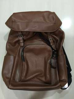 Genuine Coach Brown Leather Backpack