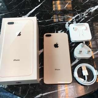LANGKA iPhone 8 Plus 64gb Gold Garansi resmi Applecare September 2019