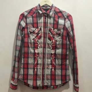 Guess Embroidery Check Shirt (Authentic)