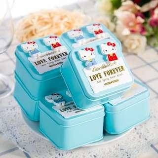 PO Hello Kitty Wedding Favour Tin Box