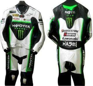 Monster motorcycle Leather Racing Suit
