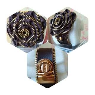 Flower Leather Bracelet