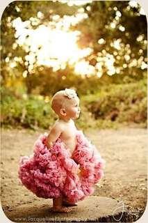 美國手工雙層雪紡蓬蓬裙Chic Baby Rose 灰玫瑰