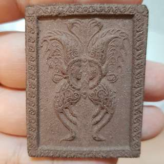 BE2552 Wat Weruwan Kruba Krissana Block B Butterfly. Made Of Herb And Mongdam Powder. Made 19 Pieces Only. With 9 Luck And Wealth Yants Signed Personally By Kruba. Kruba hand pump