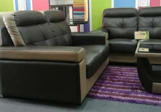 LEATHER SOFA SET 2+3 with COFFEE TABLE