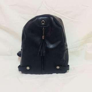Black Backpack Leather