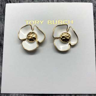Tory Burch Earrings White flower 白色花花耳環