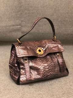 YSL Muse -Snakeskin Python Handbag