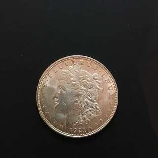 1921 Morgan Dollar BU (Silver Coin; US$1)