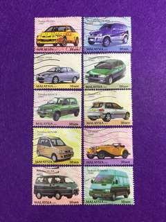 2001 Malaysian Made Cars 10V Used Set