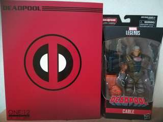 MEGA SALE! VERY RARE & HOT! Deadpool 2 movie Mezco Deadpool Replica & Hasbro Marvel Legends Cable Set of 2 For SALE!!