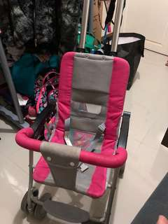 Light weight pink stroller