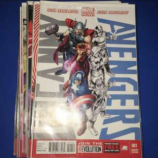 Marvel comics uncanny avengers 1 to 23 plus annual