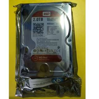 "WD Red 2TB 3.5"" 5400 RPM SATA 6 Gb/s 64MB Cache NAS Hard Disk Drive - WD20EFRX"