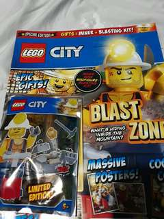 Lego City magazine with a Gift included!