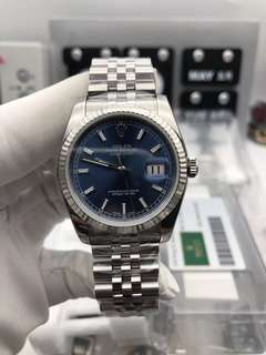 22/05/2018 【Customer's Order】✅ Rolex Date Just 116234 36mm Stainless Steel Case Blue Dial on 904L Stainless Steel Bracelet Cal.3135 ✅Swiss Grade (Top Quality)