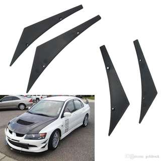 Car Styling 4x-Universal Car Front Bumper Lip Splitter
