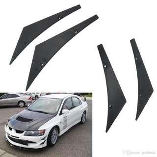 Car Styling 4x-Universal Car Front Bumper Lip Splitter