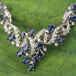 SALES - Royal Blue Sapphire Necklace. Nature/unheated.