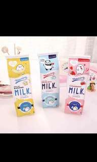 (Pre-order)  Pencil Case - Carton Milk (3 designs)