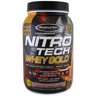 🚚 2.5lbs, 100% whey gold, chocolate peanut butter
