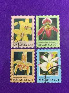1994 Orchids of Malaysia Set of 4 Values Used