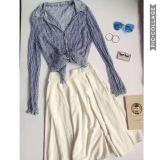 SET. Vintage blouse & Midi skirt