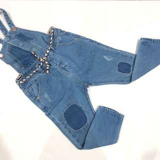 Zara girl denim overall