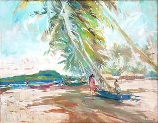 Art by Guy Huze - Tahitian Landscape