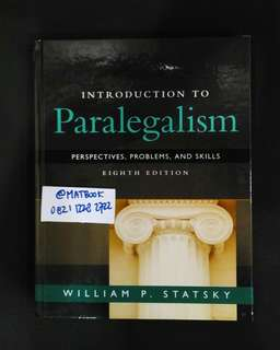 Introduction To Paralegalism 8ed