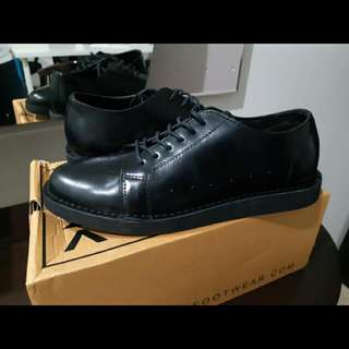 Norwin Full Black - Leather, Man Shoes