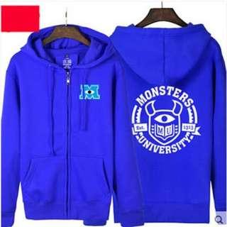 Jaket Zipper Hoodie Monster University