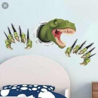 Wall sticker 3D tyrannosaurus