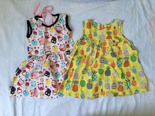 Owl Dress and Pineapple dress