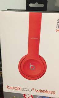 100%Real Beats solo3 Wireless(Red)連盒